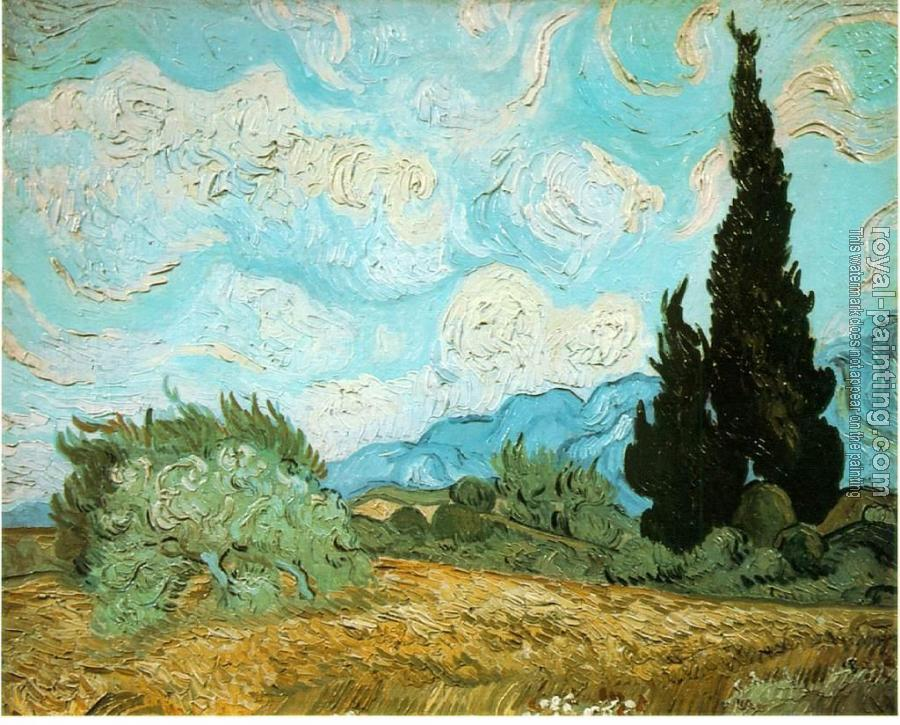 Vincent Van Gogh : Wheat Field with Cypresses III