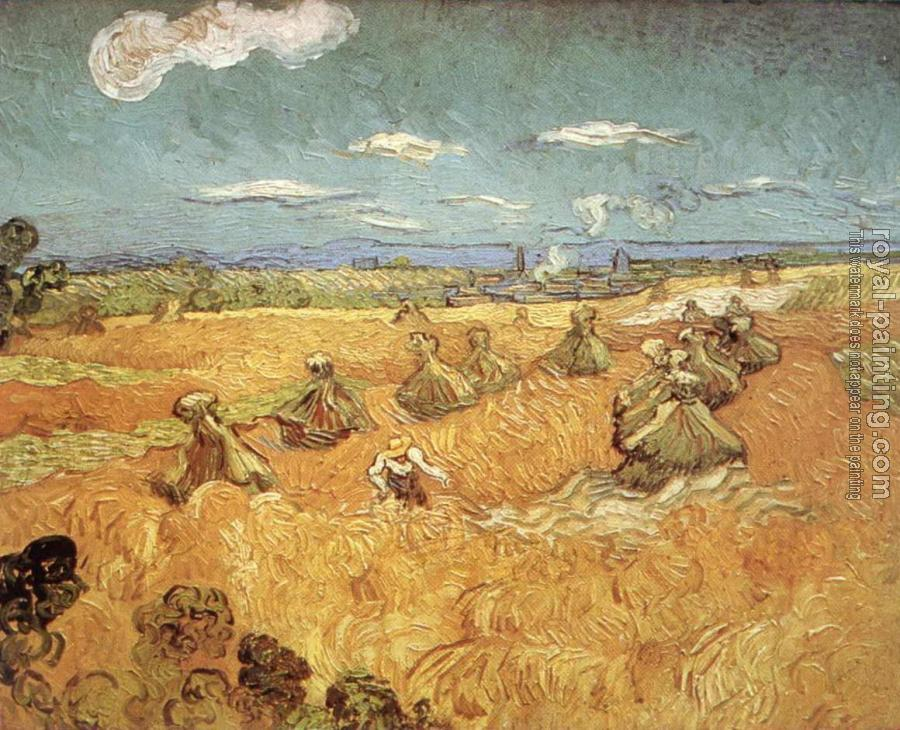 Vincent Van Gogh : Wheat Stacks with Reaper