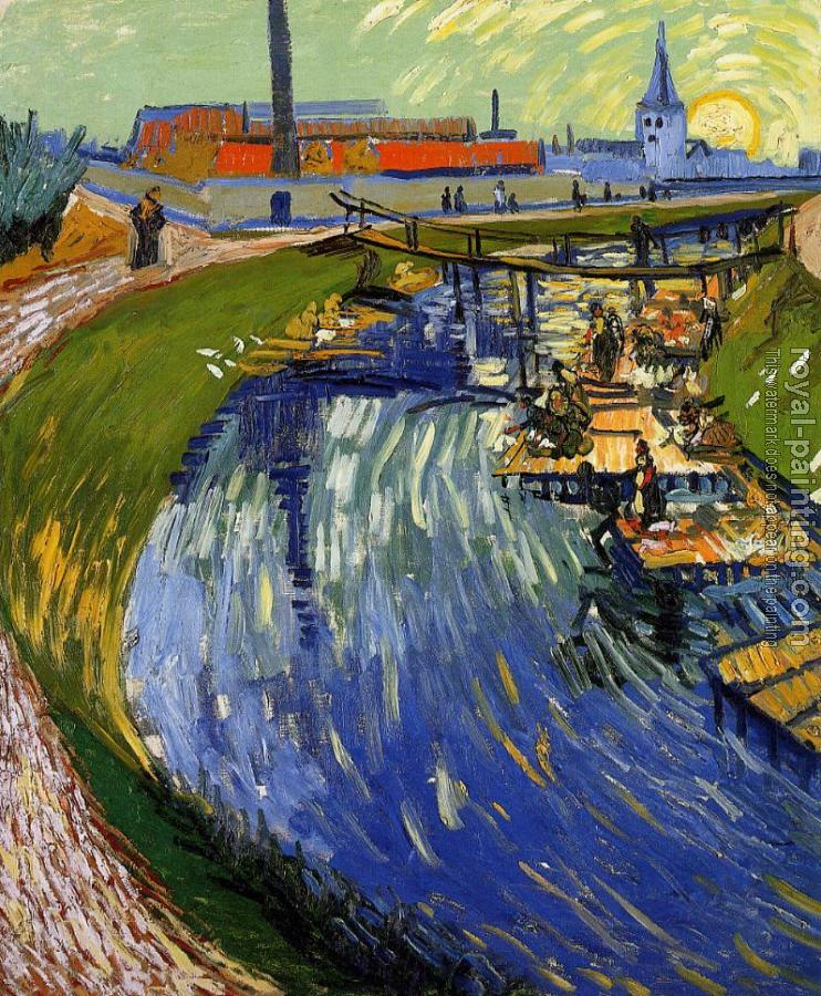 Vincent Van Gogh : Women Washing on a Canal