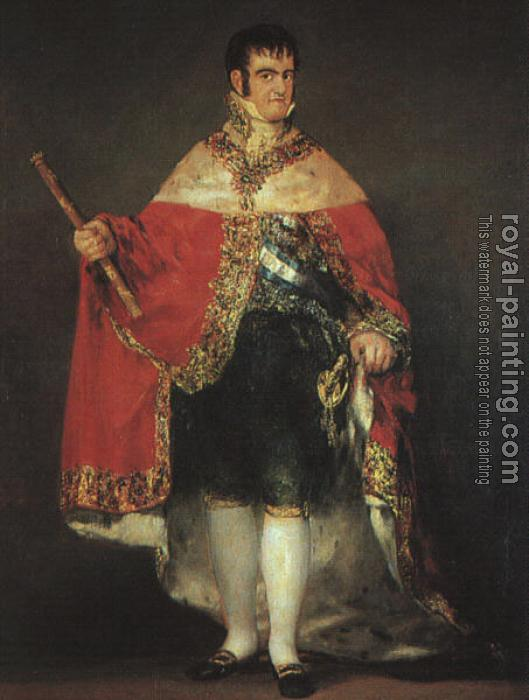 Francisco De Goya : Ferdinand VII in his Robes of State