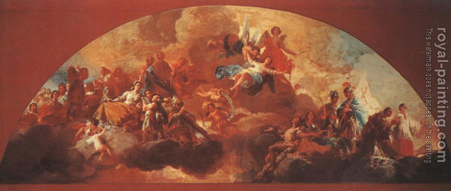 Francisco De Goya : Virgin Mary as Queen of Martyrs