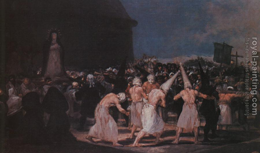 Francisco De Goya : Procession of Flagellants on Good Friday