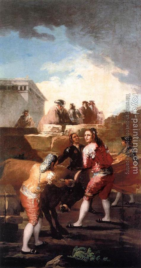 Francisco De Goya : Fight with a Young Bull