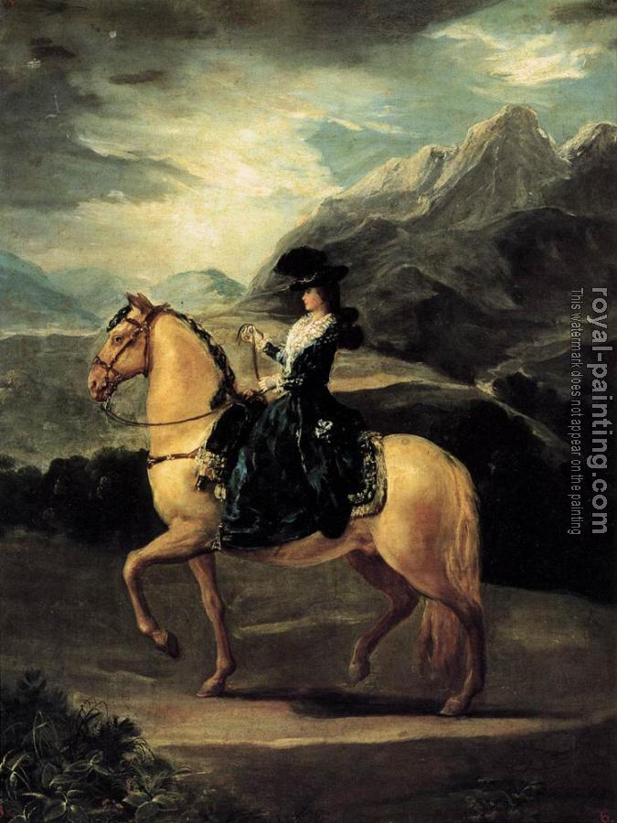Francisco De Goya : Portrait of Maria Teresa de Vallabriga on Horseback
