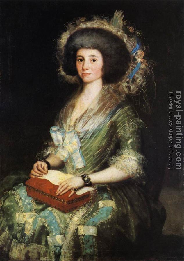 Francisco De Goya : Portrait of the Wife of Juan Agustin Cean Bermudez