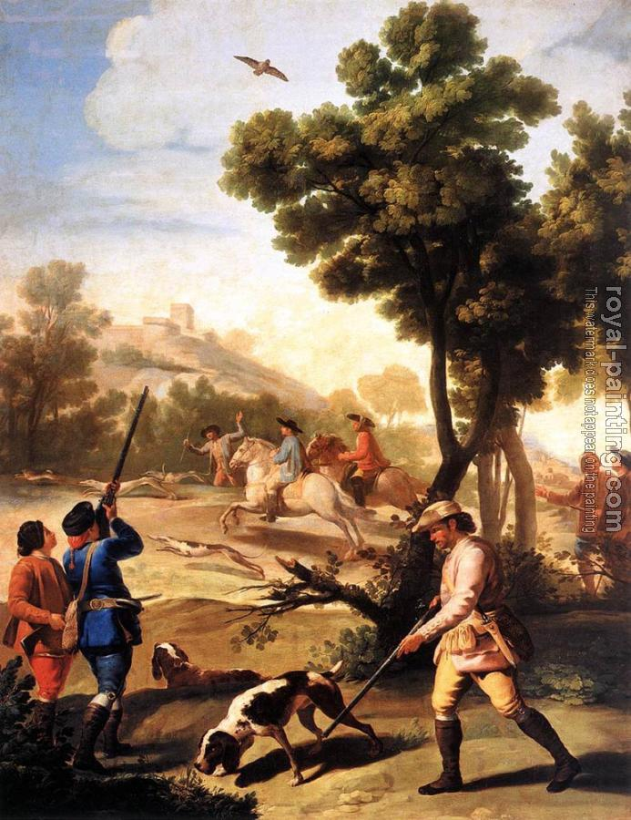 Francisco De Goya : The Quail Shoot