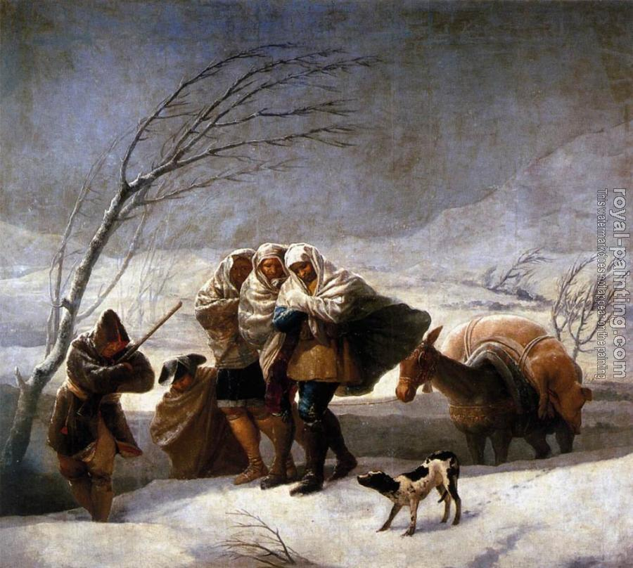 Francisco De Goya : The Snowstorm