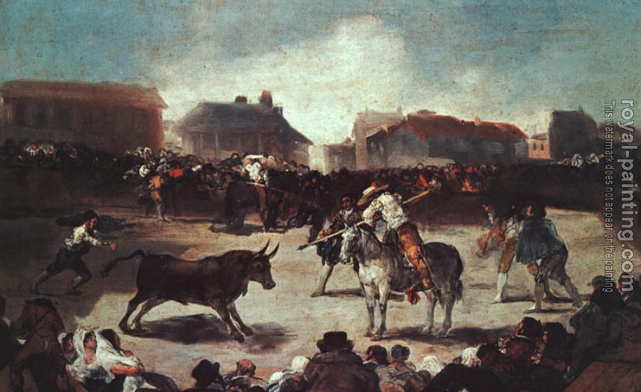 Francisco De Goya : Village Bullfight