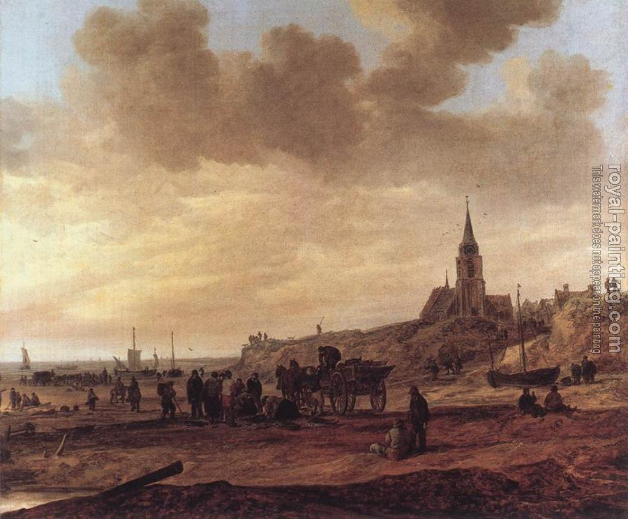 Jan Van Goyen : Beach at Scheveningen