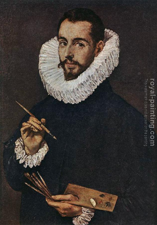 El Greco : Portrait of the Artist's Son Jorge Manuel