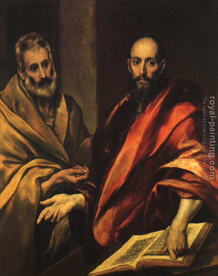 El Greco : Apostles Peter and Paul