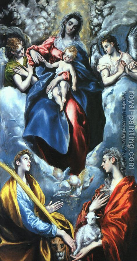El Greco : Madonna and Child with St.Marina and St.Agnes