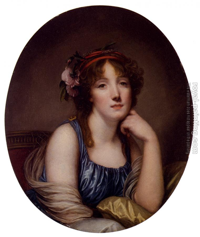 Jean-Baptiste Greuze : Portrait Of A Young Woman Said To Be The Artists Daughter