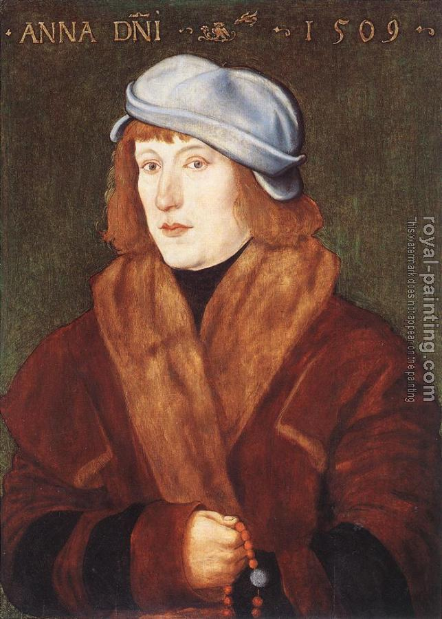 Hans Baldung Grien : Portrait of a Young Man with a Rosary