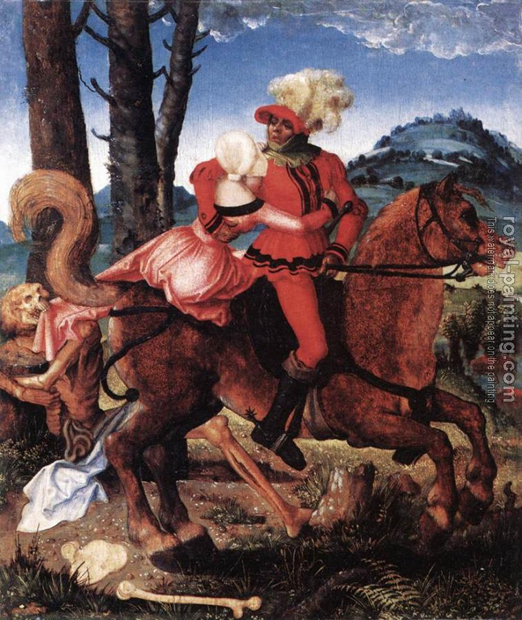 Hans Baldung Grien : The Knight, the Young Girl, and Death