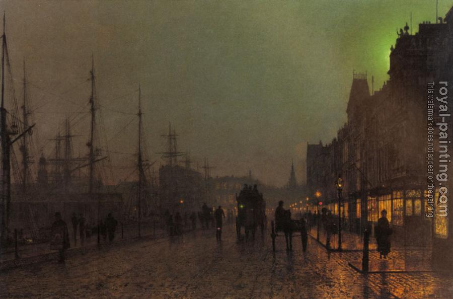 John Atkinson Grimshaw : Gourock, Near The Clyde Shipping Docks