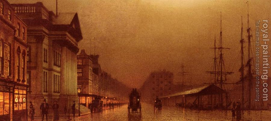 John Atkinson Grimshaw : Liverpool Customs House