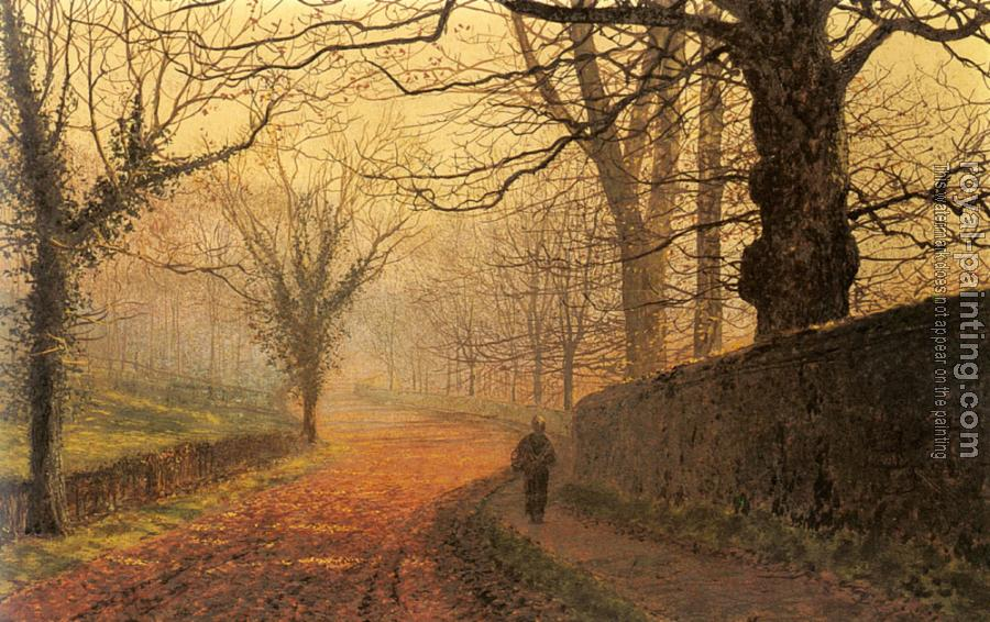 John Atkinson Grimshaw : November Afternoon, Stapleton Park