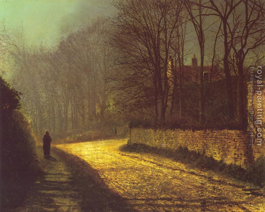 John Atkinson Grimshaw : The Lovers