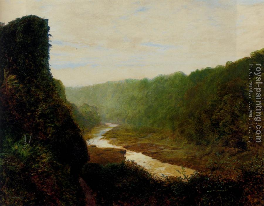 John Atkinson Grimshaw : Landscape With A Winding River
