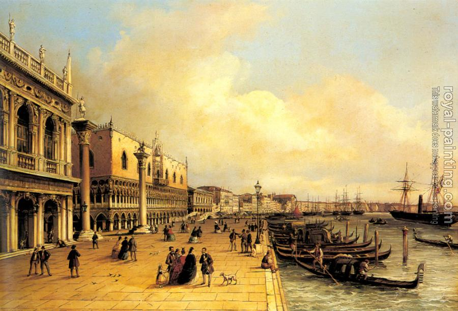 Carlo Grubacs : A View of the Doges Palace