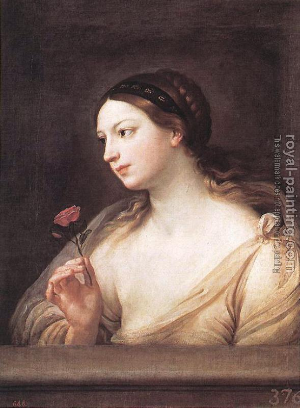 Guido Reni : Girl with a Rose