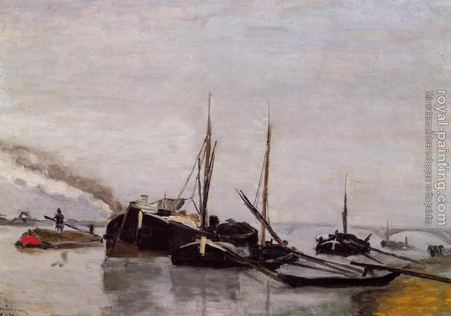 Armand Guillaumin : Barges on the Seine at Bercy