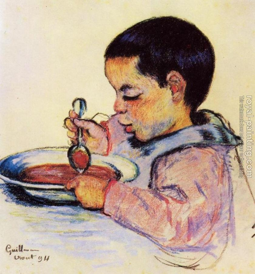 Armand Guillaumin : Child Eating Soup