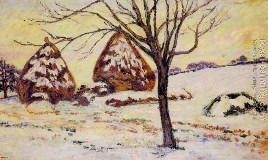 Armand Guillaumin : Palaiseau, Snow Effect