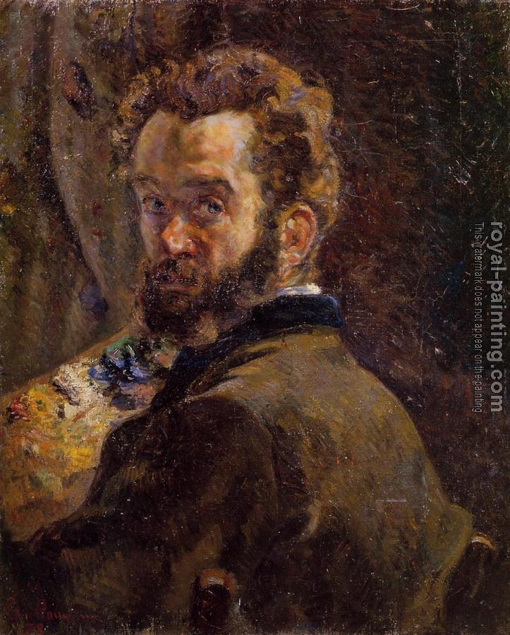 Armand Guillaumin : Self Portrait with Easel