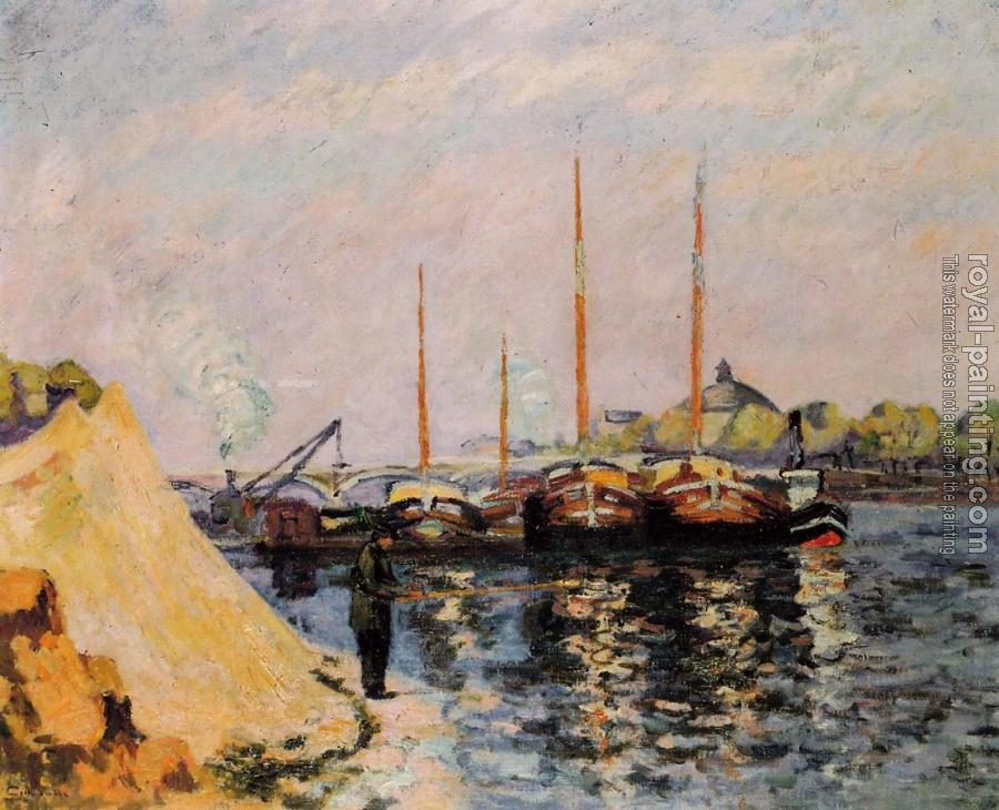 Armand Guillaumin : The Quay d'Austerlitz, Morning