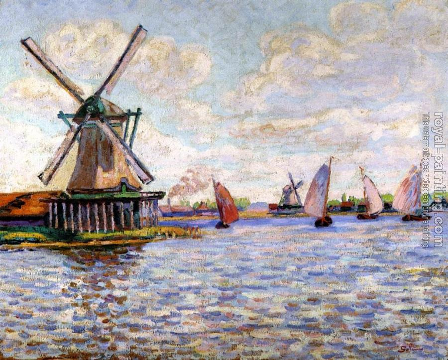 Armand Guillaumin : Windmills in Holland