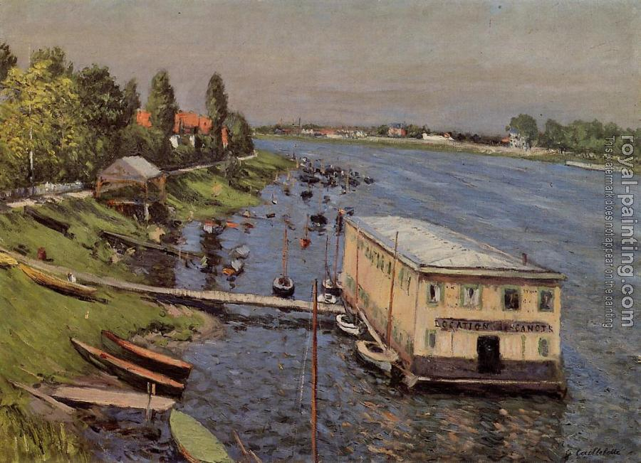 Gustave Caillebotte : Boathouse in Argenteuil