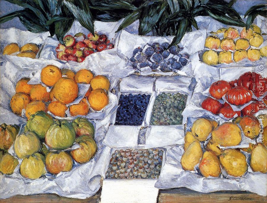 Gustave Caillebotte : Fruit Displayed On A Stand
