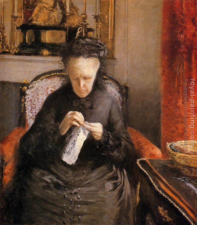 Gustave Caillebotte : Portait of Madame Martial Caillebote the artist's mother