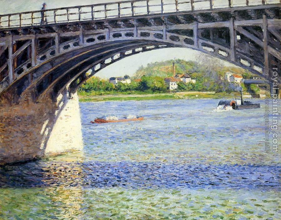 Gustave Caillebotte : The Argenteuil Bridge and the Seine