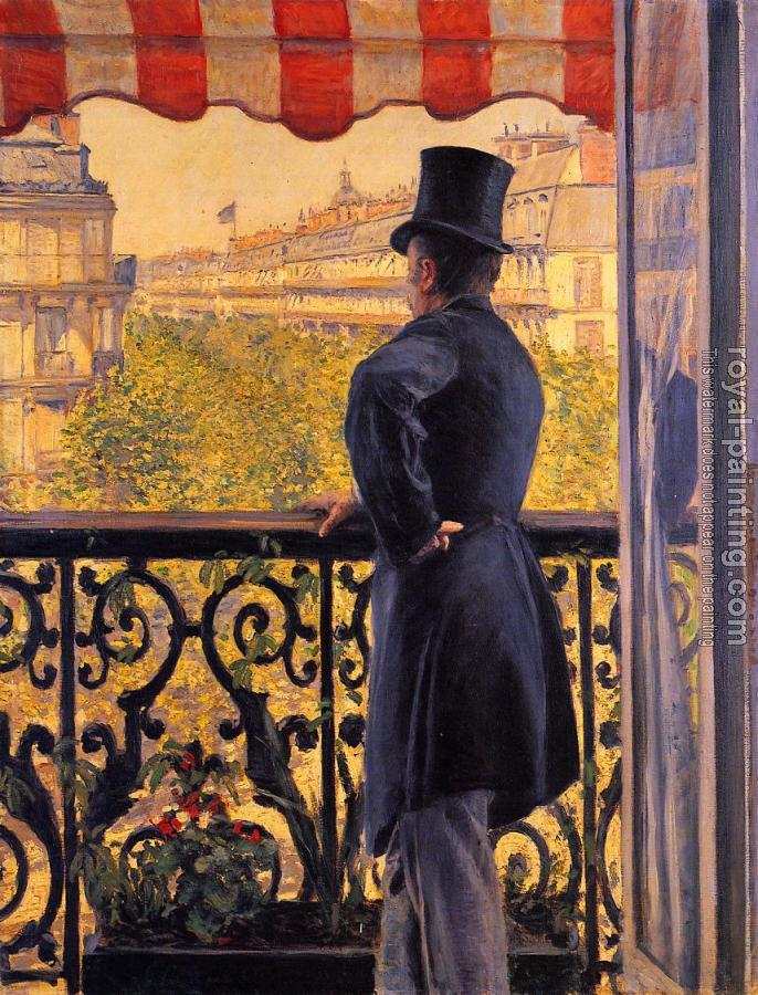 Gustave Caillebotte : The Man on the Balcony II