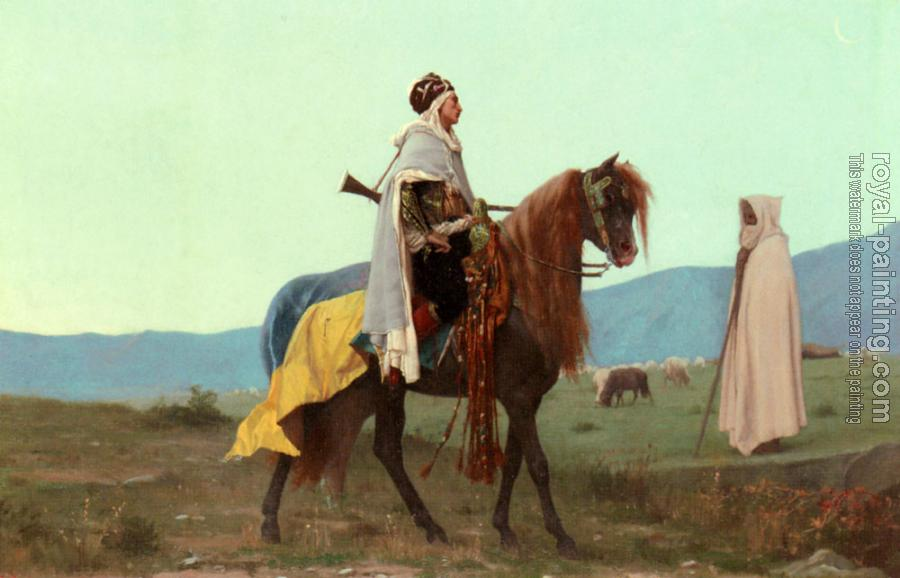 Gustave Clarence Rodolphe Boulanger : An Arab Horseman