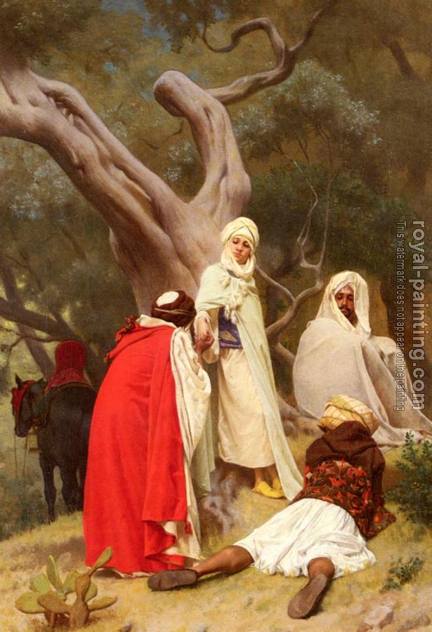 Gustave Clarence Rodolphe Boulanger : Reception Of An Emir