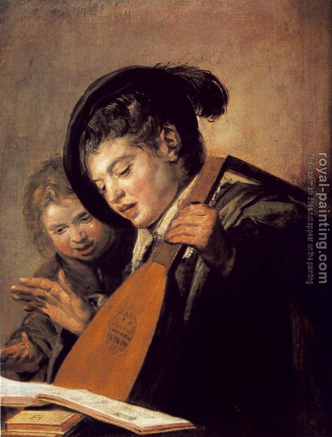 Frans Hals : Two Boys Singing