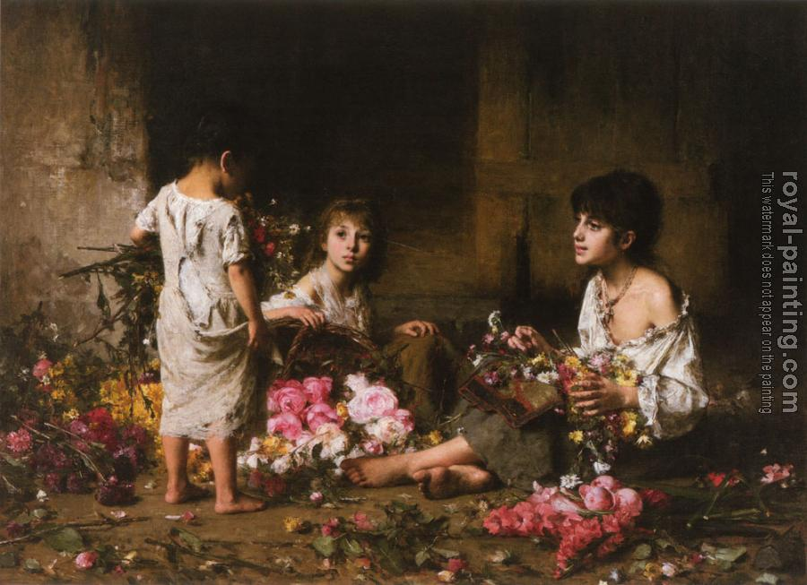 Alexei Alexeievich Harlamoff : The Flower Girls