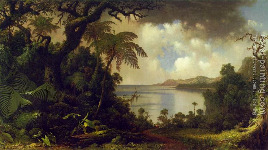 Martin Johnson Heade : View from Fern Tree Walk Jamaica