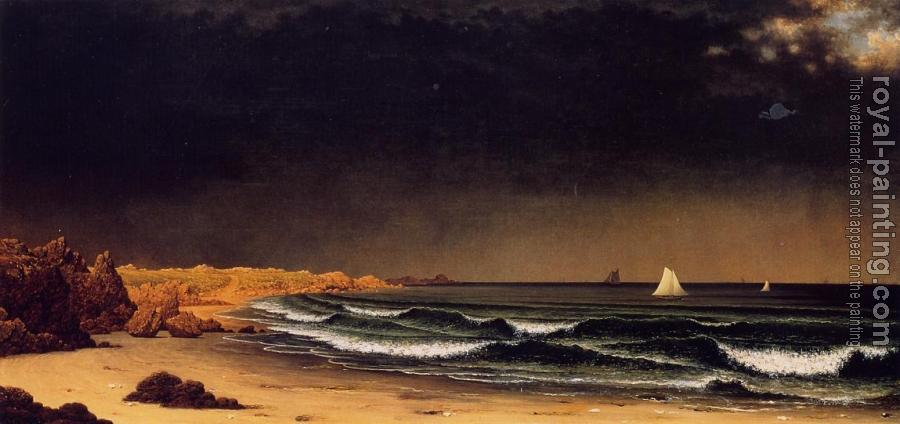 Martin Johnson Heade : Approaching Storm, Beach near Newport