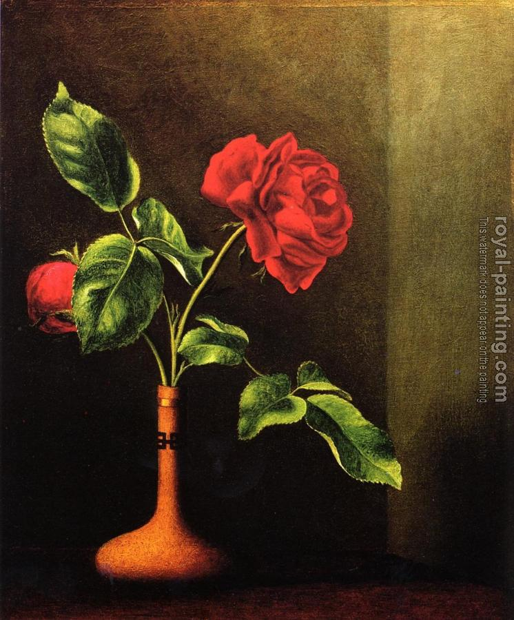 Martin Johnson Heade : Still LIfe with Rose