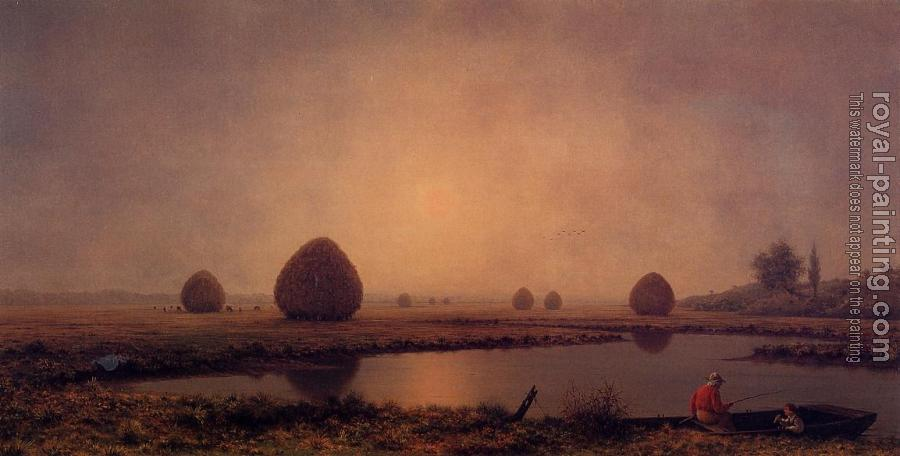 Martin Johnson Heade : Sunrise on the Marshes