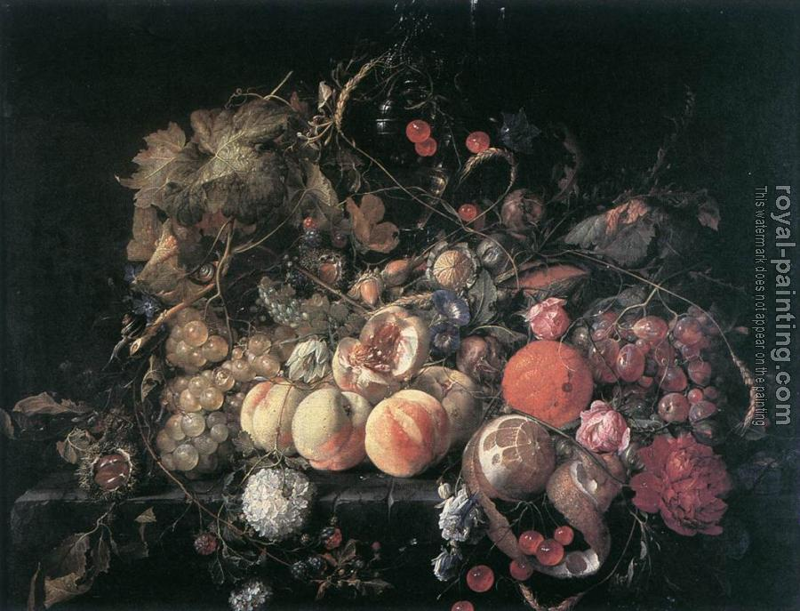 Cornelis De Heem : Still-Life with Flowers and Fruit