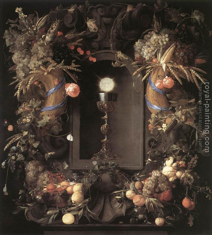 Jan Davidsz De Heem : Eucharist in Fruit Wreath