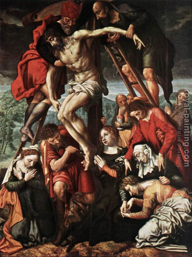 Jan Sanders Van Hemessen : The Descent from the Cross