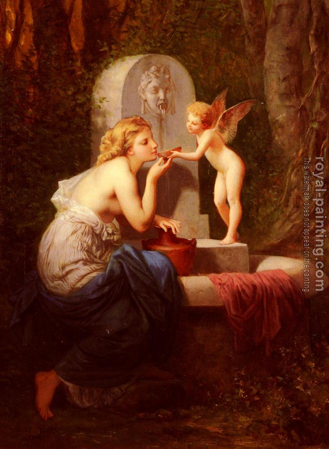 Henri Pierre Picou : At The Fountain
