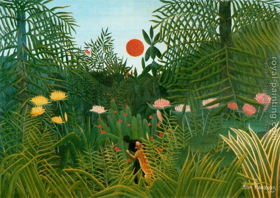 Henri Rousseau : Negro Attacked by a Jaguar
